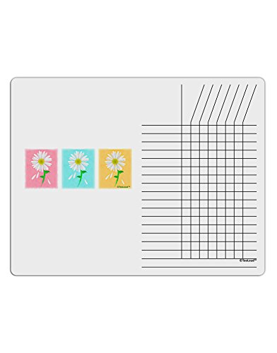 (TooLoud Pretty Daisies Watercolor Chore List Grid Dry Erase Board )