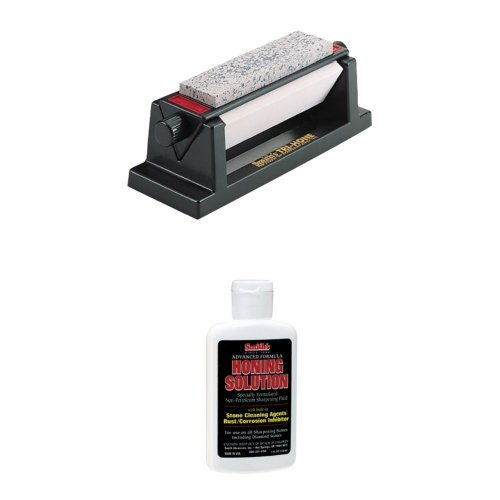 Smith's TRI-6 Arkansas TRI-HONE Sharpening Stones System plus additional larger size Hon Solution