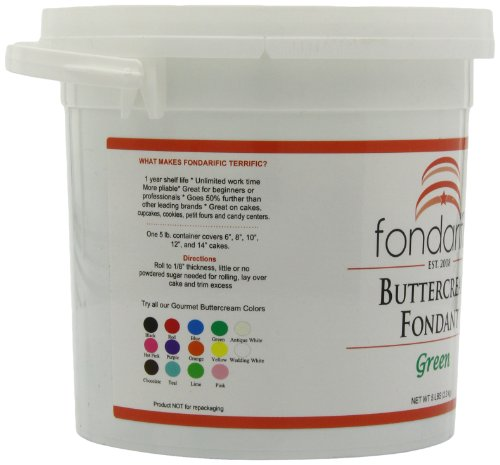 Fondarific Buttercream Green Fondant, 5-Pounds by Fondarific (Image #7)