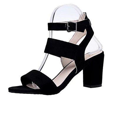 RUGAI-UE Verano Mujer sandalias de goma Casual zapatos de tacones de confort,Almendros,US4-4.5 / UE34 / REINO UNIDO2-2.5 / CN33 Black