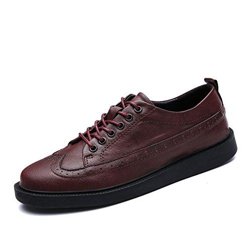 Casual Business Scarpe da Uomo Bean Pigro Scarpe da Rete Traspiranti Scarpe Oxford A Punta Rotonda Fondo Morbido Red