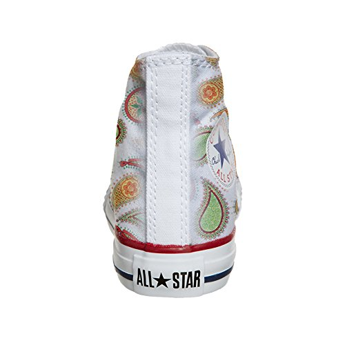 Converse All Star Hi chaussures coutume (produit artisanal) Quirky Paisley