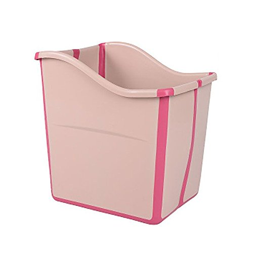 HUKOER Child folding tub baby bath tub baby newborn baby portable bath tub thickening (Pink) by HUKOER