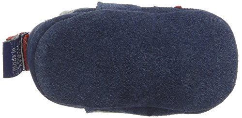 ShooShoos Rockets - Patucos de cuero para niño azul - Blue (Denim/Silver)