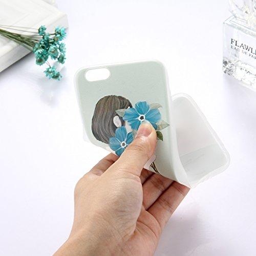 Phone Case & Hülle Für iPhone 6 & 6s TPU bereifte prägeartige Tulpe-Mädchen-Muster-schützende Fall-rückseitige Abdeckung ( Size : Ip6g5303p )