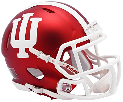 (Indiana Hoosiers Alternate Anodized Crimson NCAA Riddell SPEED Mini Football)