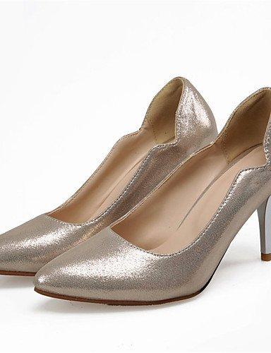 ShangYi Women's Shoes Stiletto Heel Heels / Pointed Toe Heels Wedding / Dress Blue / Silver / Gold / Coral golden Uw1TV