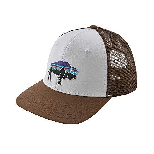 Patagonia Fitz Roy Bison Trucker Hat (White/Timber Brown)