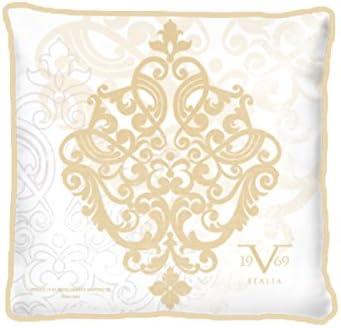 Funda de cojín Versace 19 V69 con relleno, algodón, dorado, 42 x 42 x 20 cm, 1 Unidad: Amazon.es: Hogar