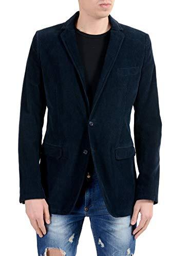 Dolce & Gabbana Men's Corduroy Blue Two Button Blazer Sport Coat US 34 IT 44 Dolce & Gabbana Cotton Coat