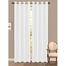 Window Elements Primavera Crushed Microfiber Extra Wide 60 in. Grommet Curtain Panel, White