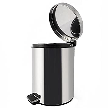 Stainless Steel Trash Can   Step Trash And Recycling Bin For Kitchen,  Bathroom, And