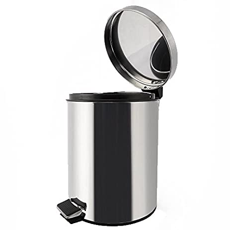 stainless steel trash can step trash and recycling bin for kitchen bathroom and