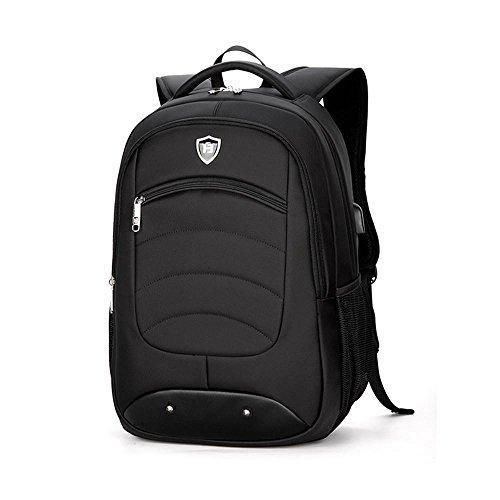 NIHE bolsa de viaje de negocios paquetes informáticos de hombro negro hombres y mujeres del bolso de la moda mochilas de oficinas de 15 pulgadas