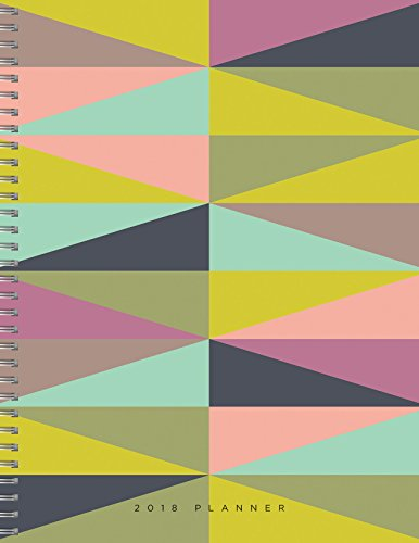 2018 Geometric Daily Weekly Monthly 9x11 Planner