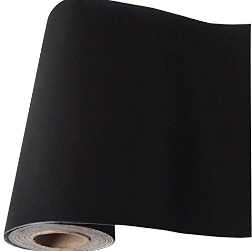 Self Adhesive Velvet Flock Contact Paper Liner for Jewelry Drawer Craft Fabric Peel and Stick Black, Soft Velvet Liner for Drawer DIY 17.7