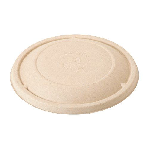 (World Centric BOL-SC-U24 100% Compostable Unbleached Plant Fiber Bowl Lids for 16-32 oz. Bowls (Pack of 500))