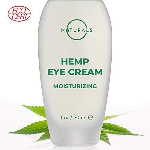 O Naturals Anti-Aging Hydrating & Moisturizing Hemp Seed Oil Eye Cream. Makeup Primer. Reduces Dark Circles, Bags, Puffiness, Fine Lines & Wrinkles Under Eyes. Hyaluronic Acid + Vitamin E. Organic 1Oz