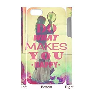 Custom New Case for iPhone 5s 3D, Happy Life Phone Case - HL-503820