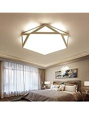Kroonluchters LTJ 18W moderne minimalistische Warm Woonkamer slaapkamer LED Plafond Light, traploos dimmen, Diameter: 42x42cm nieuw in 2020