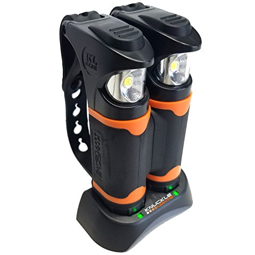 Knuckle Lights Advanced - Rechargeable LED Light for Running & Jogging, Dog Walking & Hiking. 2 Ultra Bright Units Provide a Powerful 280 lumens of Illumination