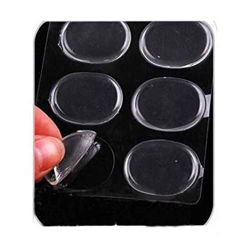 ZTY66 6PCS Clear Board Inserted Silicone Gel Insoles Cushion Pad Foot Care Heel Wear Stickers