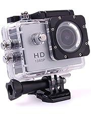 كاميرا فيديو اكشن سيموس تعتمد على الواي فاي بدقة عالية فل اتش دي 12 ميجابكسل بمعيار H.264 لضغط بيانات الصوت والصورة، مقاومة للماء ومثالية لتصوير الاحداث الرياضية، لون فضي، SJ4000