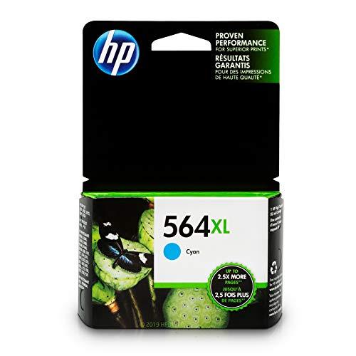 HP 564XL Ink Cartridge Cyan (CB323WN) for HP Deskjet 3520 3521 3522 3526 HP Officejet 4610 4620 4622 HP Photosmart: 5510 5512 5514 5515 5520 5525 6510 6512 6515 6520 6525 7510 7515 7520 7525 B8550 (Hp 564 Combo Pack)