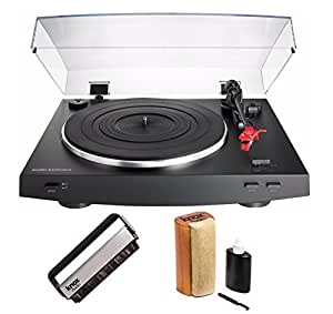 Audio-Technica AT-LP3BK Stereo Turntable (Black) with Knox Cleaning Kit & Brush