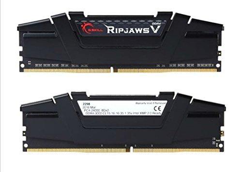 G.SKILL Ripjaws V Series 16GB (2 x 8GB) 288-Pin SDRAM DDR4 3000 (PC4 24000) Intel Z170 Memory Kit F4-3000C15D-16GVKB