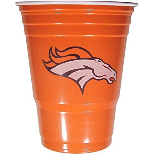 NFL Denver Broncos Plastic Game Day Cups, Orange, Adult (Denver Broncos Cups)