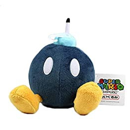 Sanei Bob Omb Plush | 5 Inch | Super Mario Plush (Japan Import) 1