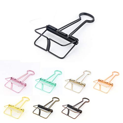 - Long Tail Clips Set of 8, Clip Decorative Paper Photo Clips Lovely Office Supplies Cute Simple Hollow Wire Printing Style Metal Cilp Students Use Folders (Multicolour)