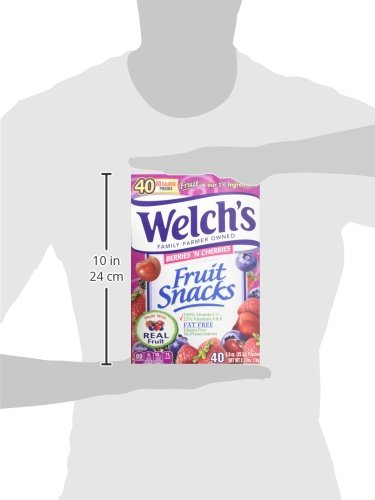 WELCH'S Berries 'n Cherries Fruit Snacks, 0.9 Ounce, 40 Count by Welch's (Image #7)
