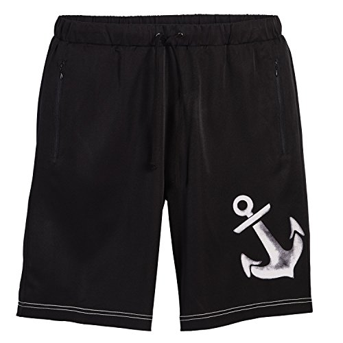 Beachcombers Men's Bottoms Polyester/Spandex Solid Anchor Board Shorts Black Extra (Halloween Display Board Ideas)