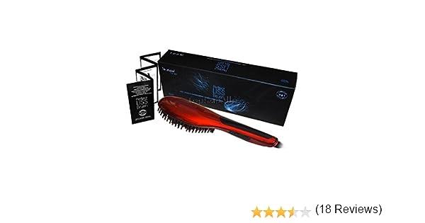 CEPILLO ELECTRICO ALISADOR DE PELO AGV . PANTALLA LCD. AGV PROFESIONAL, EL AUTENTICO , ORIGINAL Y PRIMERO Perfect Liss Brush, ROJO.: Amazon.es: Salud y cuidado personal