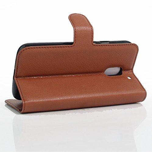 Funda Motorola MOTO E3 POWER,Manyip Caja del teléfono del cuero,Protector de Pantalla de Slim Case Estilo Billetera con Ranuras para Tarjetas, Soporte Plegable, Cierre Magnético B