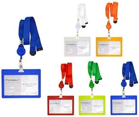 Schlüsselband Lanyard neu 10 x Kartenhalter Ausweishalter Namensschild Hülle