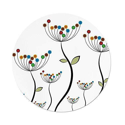 Amazon Com Iprint Polyester Round Tablecloth Garden