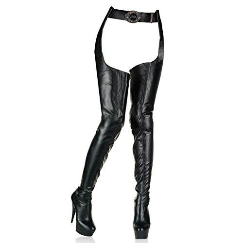 Pleaser - Botas para mujer negro Schwarz, color negro, talla 40-41 EU / 10 US