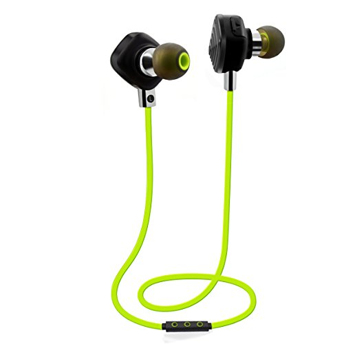 PLAY X STORE Bluetooth Sports Stereo Headphones With Mic,Wireless Running Headsets (BALCK)