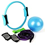 MANLI 15'Pilates Ring Set,Yoga Fitness