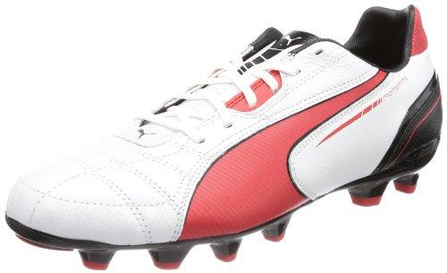 Puma Momentta MG 102677, Herren Fußballschuhe Weiß (metallic white-high risk 04)