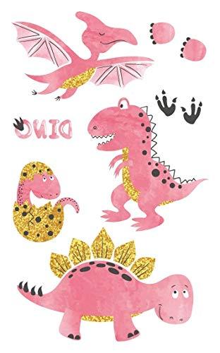 HDNSA Rosa estilo tatuaje pegatina dibujos animados niños lindo ...