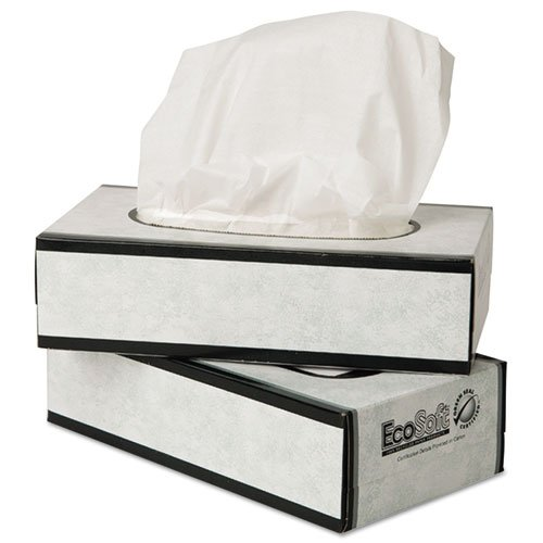 Wausau Paper 15000 EcoSoft Facial Tissue, 150 Sheets per Pack (Case of 30 Packs)