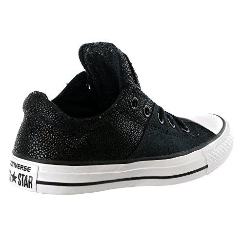 Converse Damen Chuck Taylor All Star Madison Sneaker Metallisches schwarzes Leder
