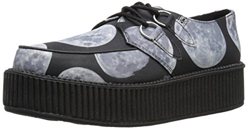 Tuk Unisex Moon Scape Viva Mondo Creeper Fashion Sneaker Nero