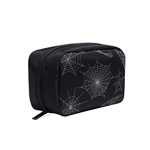 Black Spiders And Broken Webs Portable Travel Makeup Cosmetic Bags Organizer Multifunction Case Small Toiletry Bags For Women And Men Brushes Case]()