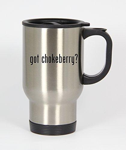 got chokeberry? - 14oz Silver Travel Mug