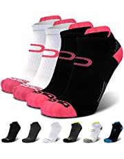 Ankle Compression Running Socks for Men & Women - Low Cut Athletic Socks (2 Pairs)